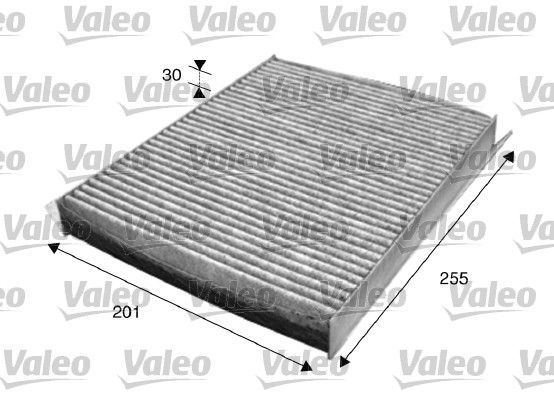 715612 VALEO CLIMFILTER PROTECT Aktivkohlefilter Breite: 201mm, Höhe: 30mm, Länge: 255mm Filter, Innenraumluft 715612 günstig kaufen