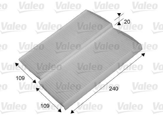 RENAULT KANGOO 2019 Filter Innenraumluft - Original VALEO 715649 Breite: 108mm, Höhe: 21mm, Länge: 240mm