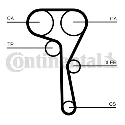 CT1167K1 Zahnriemen Kit CONTITECH CT1167K1 - Große Auswahl - stark reduziert