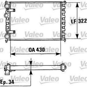 TA824 VALEO Aluminium Kühler, Motorkühlung 730946 günstig kaufen