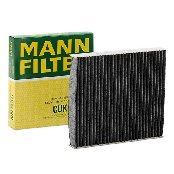 CUK 22 011 MANN-FILTER Aktivkohlefilter Breite: 200mm, Höhe: 35mm, Länge: 216mm Filter, Innenraumluft CUK 22 011 günstig kaufen