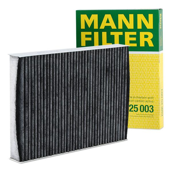 NISSAN QASHQAI 2014 Klimaanlage - Original MANN-FILTER CUK 25 003 Breite: 180mm, Höhe: 35mm, Länge: 250mm
