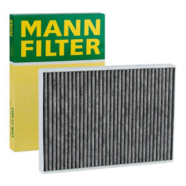 AUDI A6 2017 Kabinenluftfilter - Original MANN-FILTER CUK 31 003 Breite: 220mm, Höhe: 31mm, Länge: 311mm