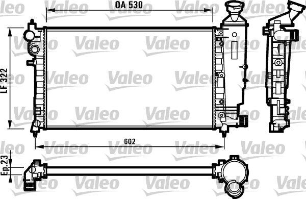 OE Original Autokühler 731526 VALEO