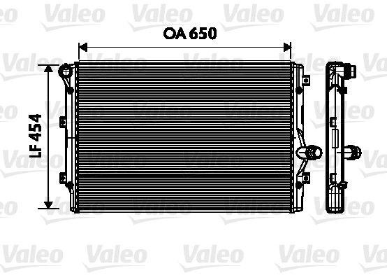 734333 Kühler, Motorkühlung VALEO Test