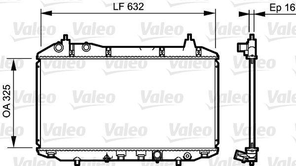 735241 VALEO ohne Kühlmittelregler, Aluminium Kühler, Motorkühlung 735241 günstig kaufen