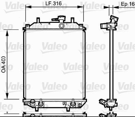 735257 VALEO ohne Kühlmittelregler, Aluminium Kühler, Motorkühlung 735257 günstig kaufen