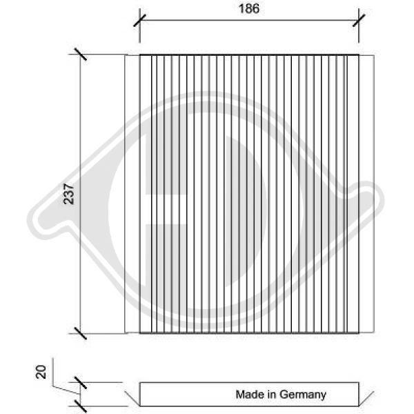 DIEDERICHS Filter, Innenraumluft DCI0171