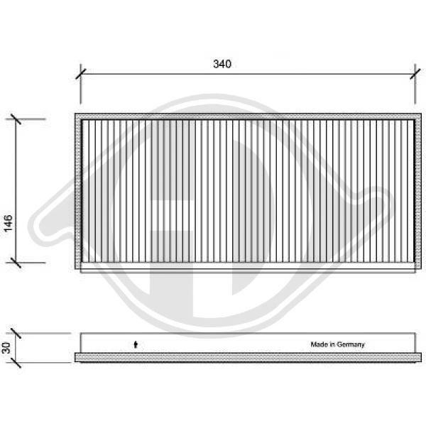 DIEDERICHS Филтър, въздух за вътрешно пространство DCI1006