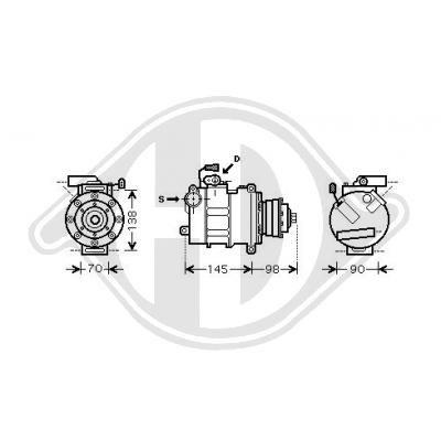 DCK1068 DIEDERICHS Kältemittel: R 134a, Climate Klimakompressor DCK1068 günstig kaufen