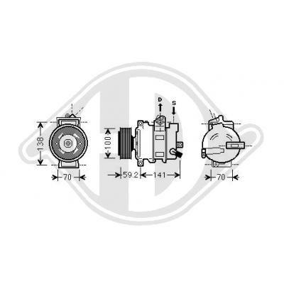 Kompressor DIEDERICHS DCK1073