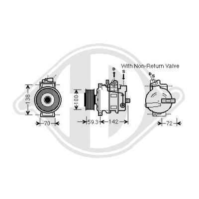 Klimakompressor DIEDERICHS DCK1075