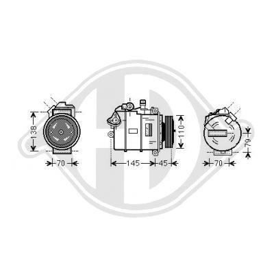Kompressor Klimaanlage DIEDERICHS DCK1114