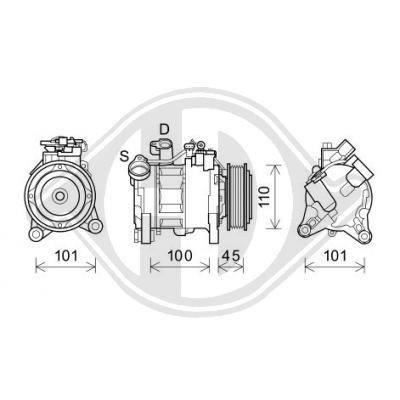 Klimakompressor DIEDERICHS DCK1138