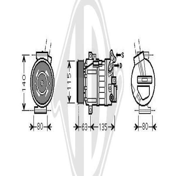 Original AUDI Kompressor Klimaanlage DCK1154