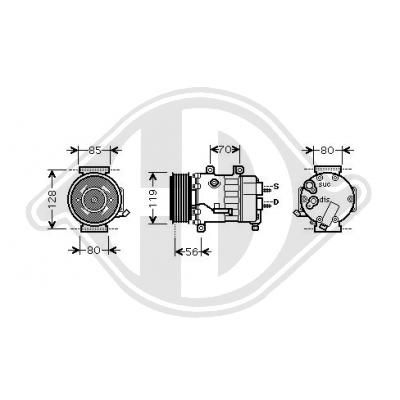 OE Original Klimakompressor DCK1186 DIEDERICHS