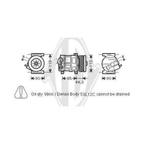DCK1217 DIEDERICHS Kältemittel: R 134a, Climate Riemenscheiben-Ø: 110mm Kompressor, Klimaanlage DCK1217 günstig kaufen