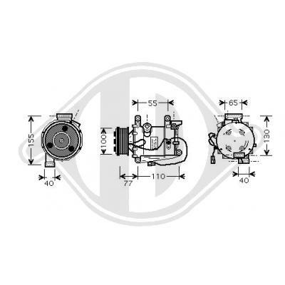 Original HONDA Kompressor DCK1299