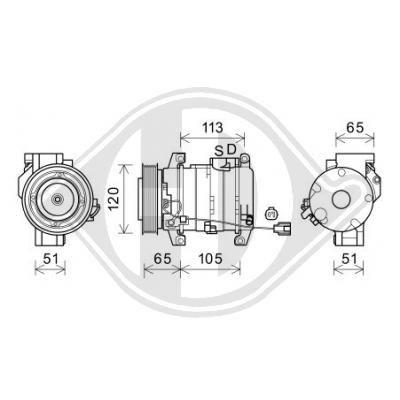 Original HONDA Kompressor Klimaanlage DCK1309