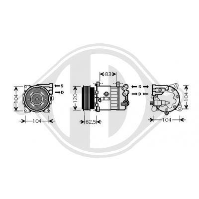 Original PEUGEOT Kompressor DCK1451