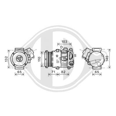 Original LEXUS Kompressor DCK1564