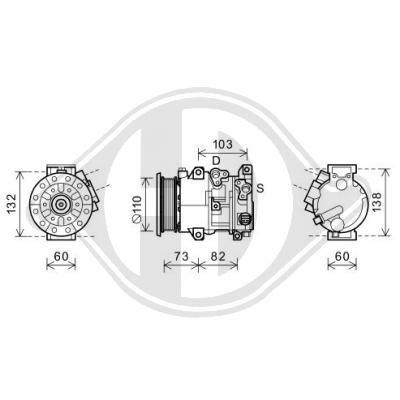 Original LEXUS Klimakompressor DCK1565