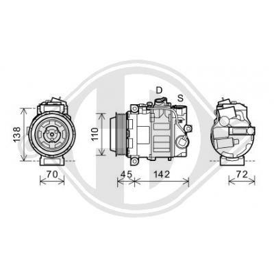 Original MERCEDES-BENZ Kompressor DCK1685