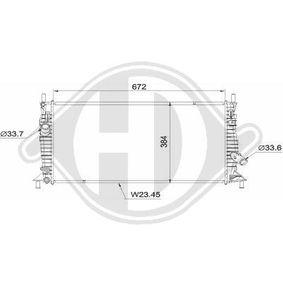 Kühler Motorkühlung van Wezel 18002370