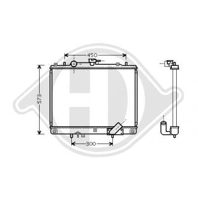 DIEDERICHS Kühler, Motorkühlung DCM2505