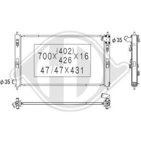 DCM2532 DIEDERICHS Aluminium, Climate Netzmaße: 700x410x16 Kühler, Motorkühlung DCM2532 günstig kaufen