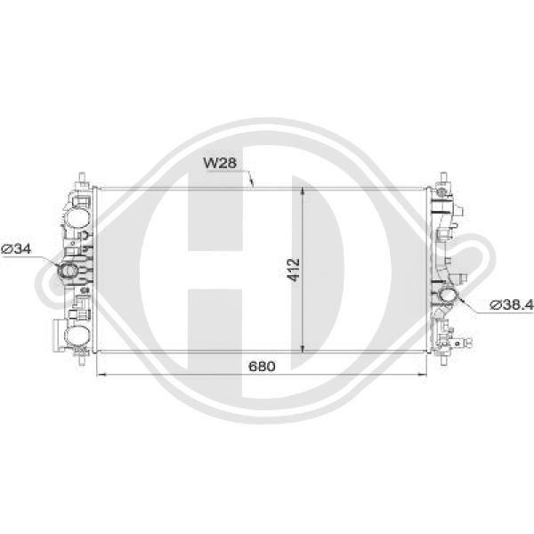 OPEL INSIGNIA 2016 Autokühler - Original DIEDERICHS DCM2714
