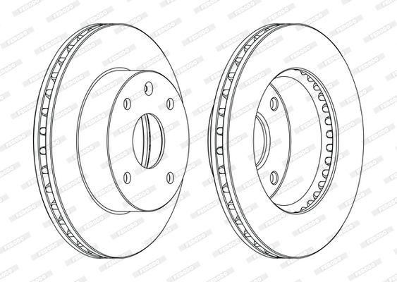 CHEVROLET LACETTI 2020 Scheibenbremsen - Original FERODO DDF1257C Ø: 256mm, Lochanzahl: 4, Bremsscheibendicke: 24mm