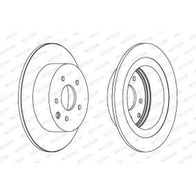 DDF1590C FERODO PREMIER Voll, beschichtet, ohne Schrauben Ø: 292mm, Lochanzahl: 5, Bremsscheibendicke: 9mm Bremsscheibe DDF1590C günstig kaufen