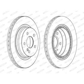 DDF1700C FERODO PREMIER belüftet, beschichtet, ohne Schrauben Ø: 300mm, Lochanzahl: 5, Bremsscheibendicke: 22mm Bremsscheibe DDF1700C günstig kaufen