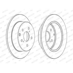 DDF1704C FERODO PREMIER Voll, beschichtet, ohne Schrauben Ø: 280mm, Lochanzahl: 5, Bremsscheibendicke: 10mm Bremsscheibe DDF1704C günstig kaufen