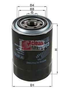 Original HYUNDAI Oil filter DF 827/A
