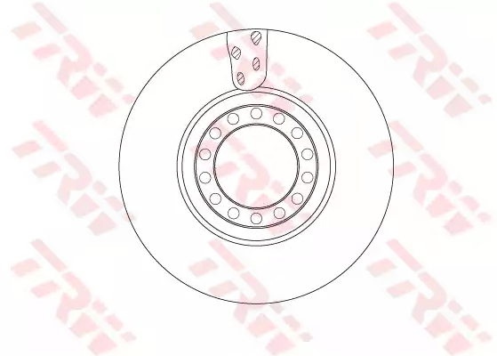 TRW Brake Disc for IVECO - item number: DF5077S