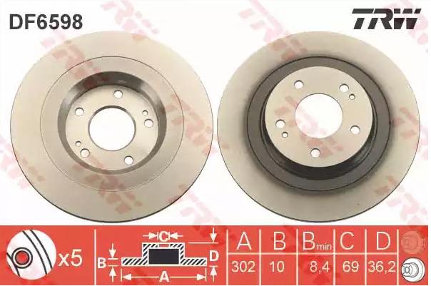 Bremsscheibe TRW DF6598 Bewertungen