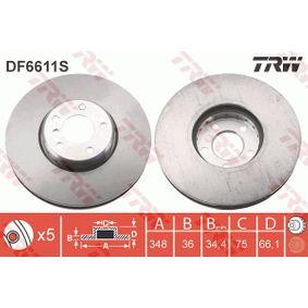 DF6611S Bremsscheiben TRW DF6611S - Große Auswahl - stark reduziert