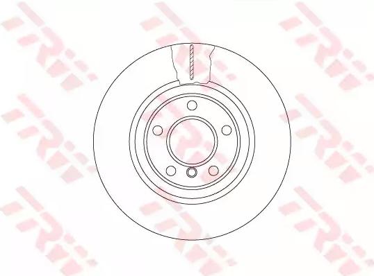 DF6616S TRW belüftet, Bremsscheibe zweiteilig, lackiert, hochgekohlt Ø: 330mm, Lochanzahl: 5, Bremsscheibendicke: 24mm Bremsscheibe DF6616S günstig kaufen