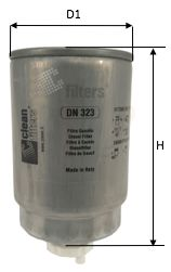 CLEAN FILTER Filtre à carburant DN 323