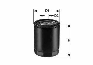 Achat de DO1801 CLEAN FILTER Filtre vissé, Filtres de circuit principal Hauteur: 88mm Filtre à huile DO1801 pas chères