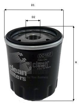 Alyvos filtras DO1837 CLEAN FILTER — tik naujos dalys