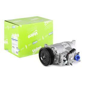 813150 VALEO PAG 46, Kältemittel: R 134a, mit PAG-Kompressoröl, NEW ORIGINAL PART Riemenscheiben-Ø: 100mm Kompressor, Klimaanlage 813150 günstig kaufen
