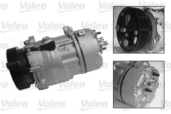 VALEO: Original Kompressor Klimaanlage 813700 (Riemenscheiben-Ø: 119,5mm, Anzahl der Rillen: 6)