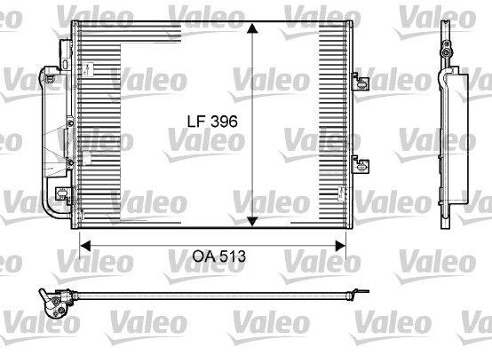 VALEO: Original Kondensator Klimaanlage 814061 (Kältemittel: R 134a)