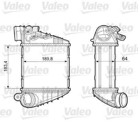 Volkswagen GOLF 2019 Exhaust VALEO 817457: Aluminium, with sensor