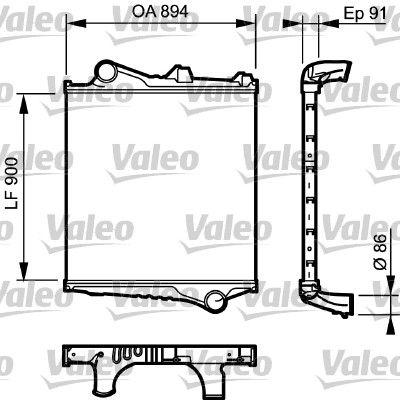 VALEO Ladeluftkühler für VOLVO - Artikelnummer: 817774