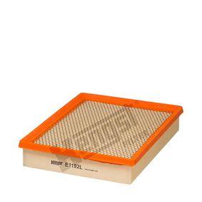 6332310000 HENGST FILTER Filtereinsatz Länge: 296,0mm, Breite: 234,0mm, Höhe: 52,0mm Luftfilter E1192L günstig kaufen