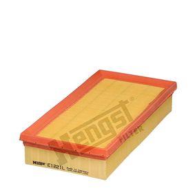 6447310000 HENGST FILTER Filtereinsatz Länge: 294,0mm, Breite: 143,0mm, Höhe: 50,5mm Luftfilter E1221L günstig kaufen